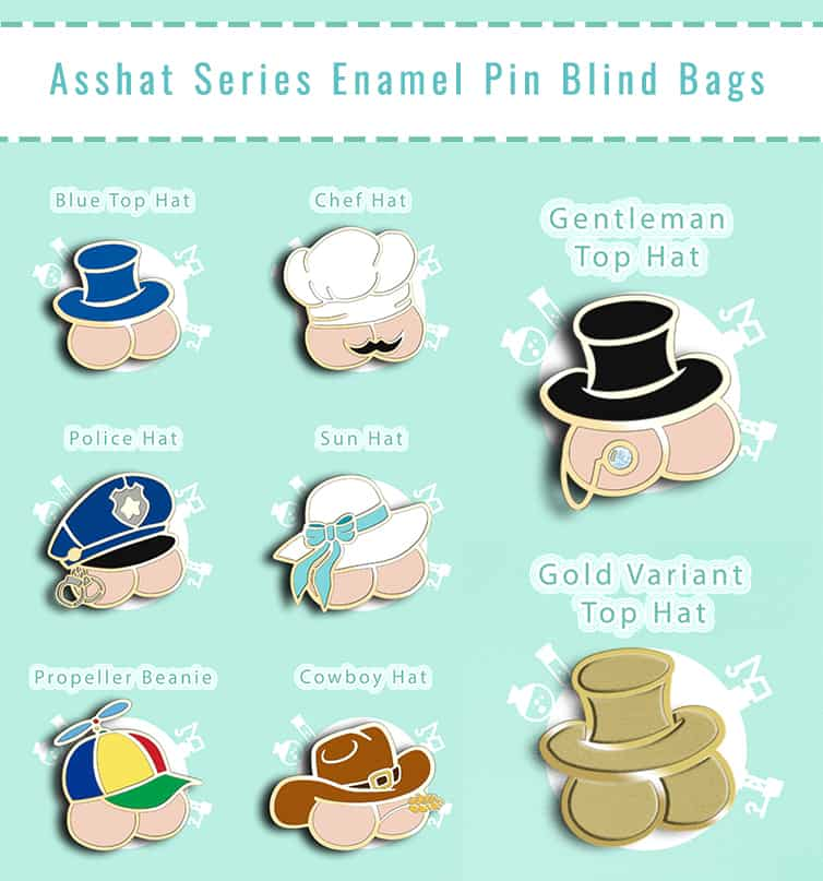 Asshat Enamel Pin Blind Bags