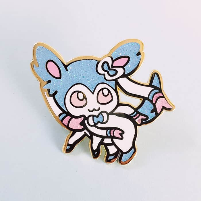 Eeveelution Set & Free Shiny Sylveon Enamel Pin!